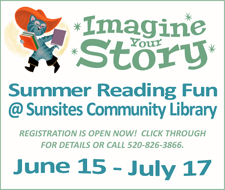 Summer reading logo with cat