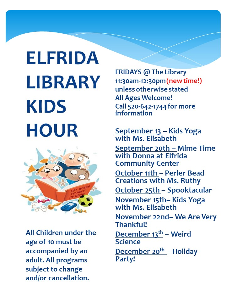 Elfrida Library Kids Hour
