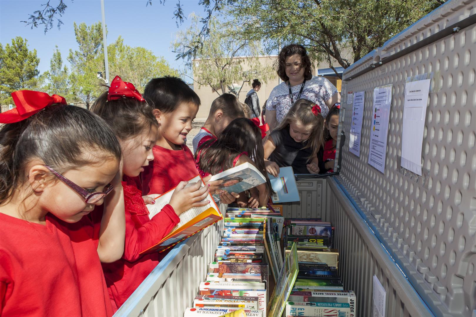 Coronado students with Free Book Box