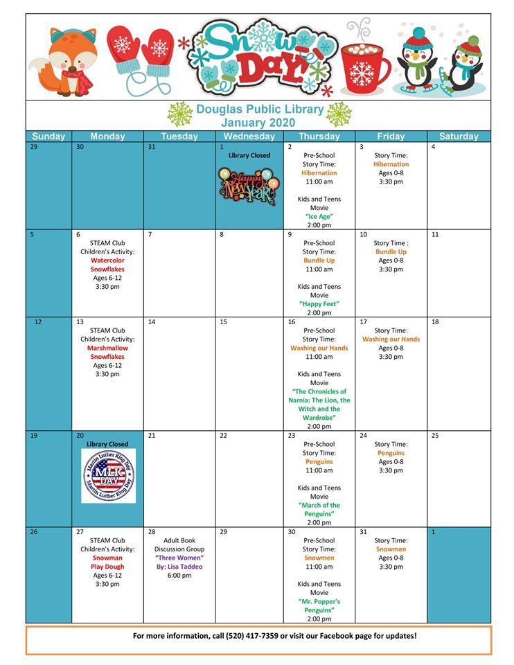 Douglas Public Library January 2020 Events