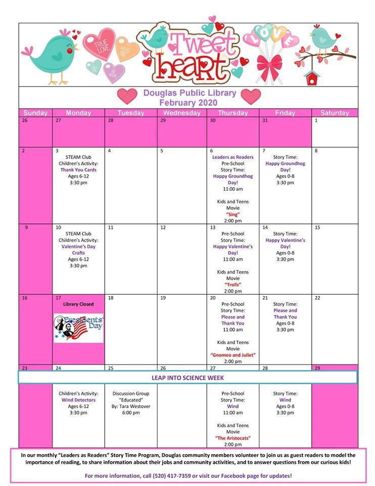 Douglas Public Library February 2020 Events