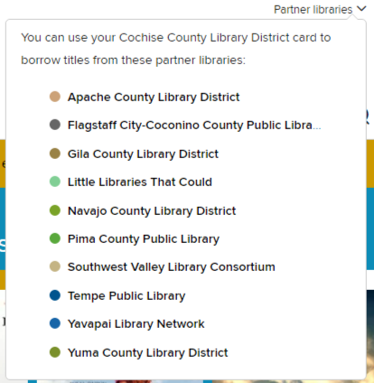 screenshot showing partner libraries